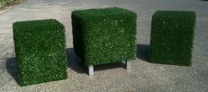 Funked Up Furniture features pieces perfect for paternal pursuits like reclaiming the garden or creating a customised man-cave! With cube stools, tables and portable cushions created with tough textures like hessian, denim and AstroTurf. Available from Young Designers Market.