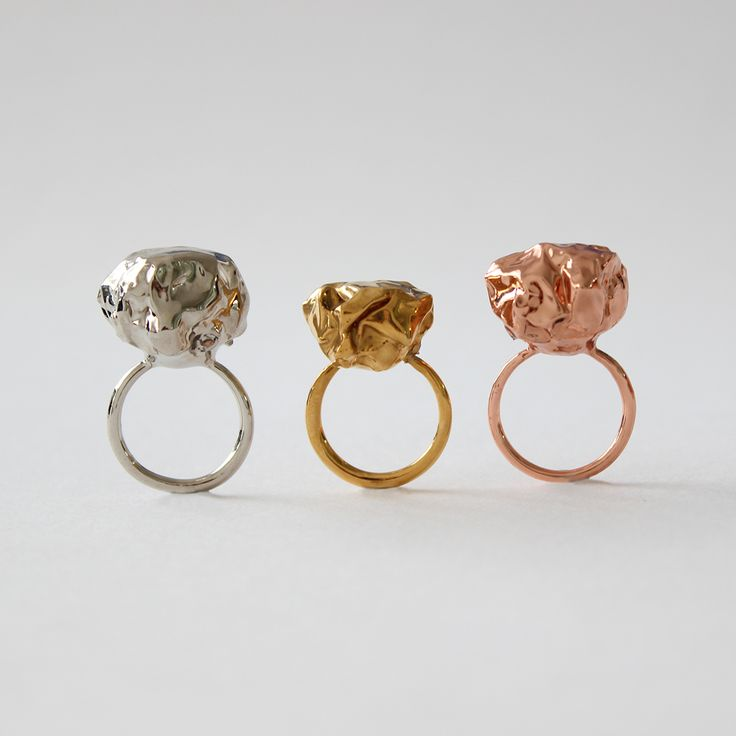 New silver, gold and copper rings added to the Curiously Obsessed range.