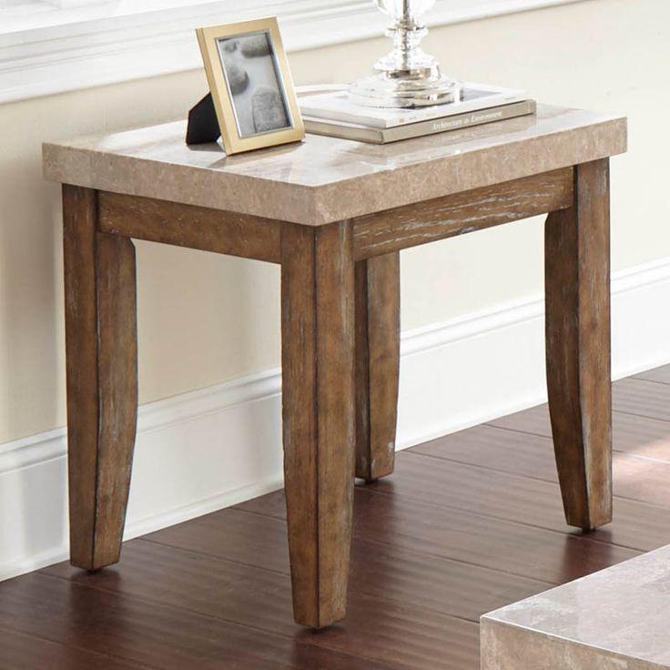Steve Silver Co. Franco Marble Top End Table - FR700E