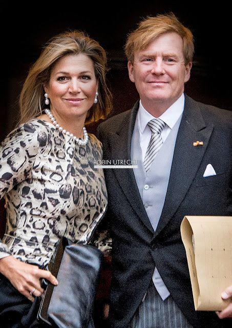 King Willem Alexander of the Netherlands, Queen Maxima of the Netherlands and Princess Beatrix of The Netherlands attends for the New Year Reception Diplomatic Corps at the Royal Palace in Amsterdam, The Netherlands, 14 January 2015