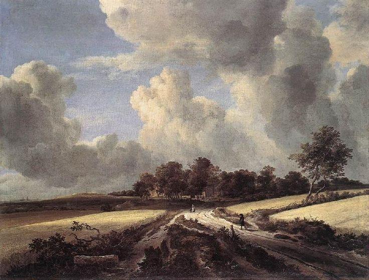 Jacob van Ruisdael: Wheat Fields. Love the huge skies in Dutch landscape paintings....just like Essex!