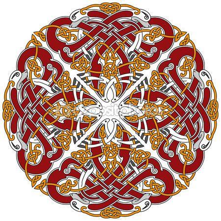 Подробные кельтский дизайн элемент с птицами — стоковая иллюстрация #4290861