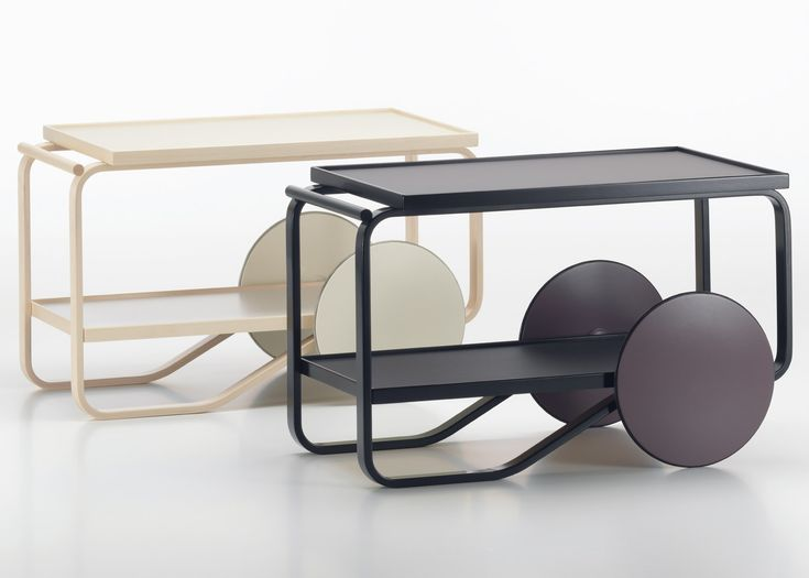 Hella Jongerius has created new versions of Modernist Alvar Aalto's iconic 901 tea trolley for Finnish furniture brand Artek.