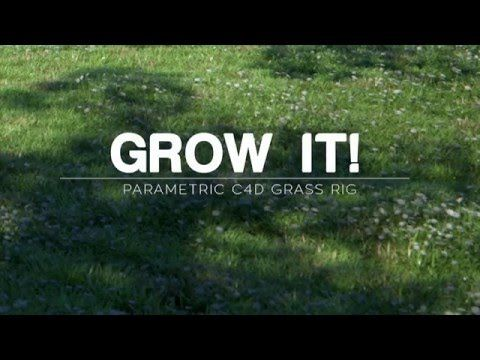 Freebie: C4D parametric grass generator on Behance