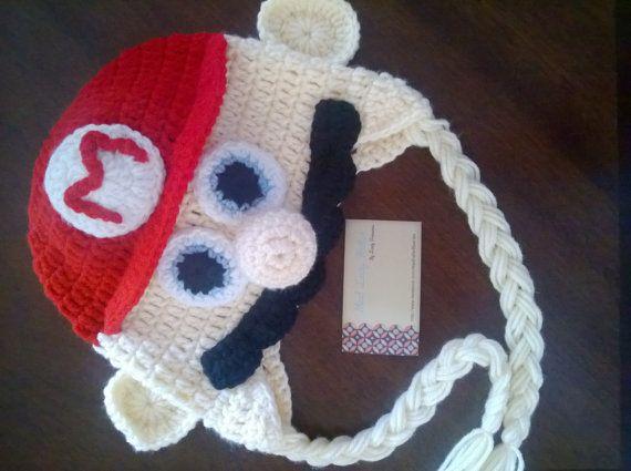 Super+Mario+Bros+inspired+crochet+hat+by+Madladyhatter+on+Etsy,+$25.00