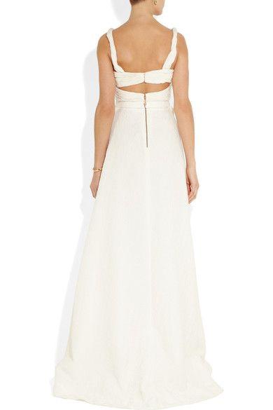 Sophia Kokosalaki - Harmonia Matelassé Silk-blend Gown - Off-white - IT42