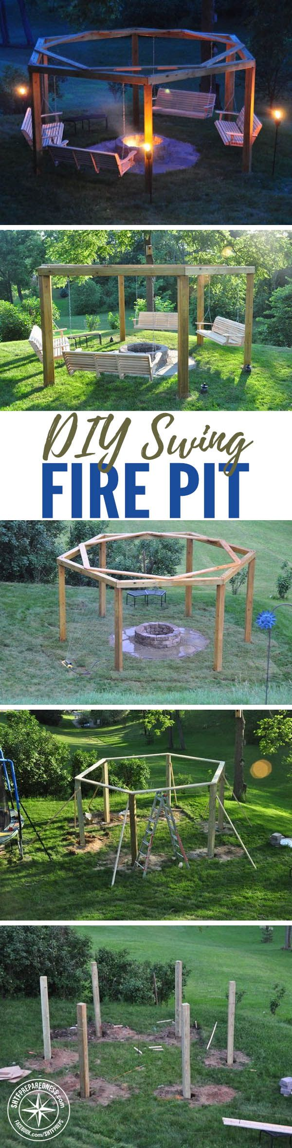 How To Build The Best DIY Fire Pit EVER! I love a nice warm fire during the cooler Fall days... Fire pit time! You can just spend 100 bucks or so on a boring ready made metal fire pit or you can spend just a little more and have the best of all fire pit entertainment areas... ever.