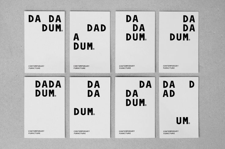 Logotype and business cards created by Demian Conrad Design for Swiss contemporary furniture design and manufacturer Dadadum
