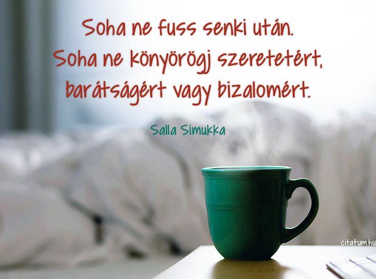 Salla Simukka gondolata a viszonzatlanságról.