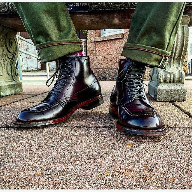 aldenofcarmel Model AF134. Color 8 Shell Cordovan Indy Boot. Photo by Andrew Carr @inn8chiro 2016/09/05 00:50:01