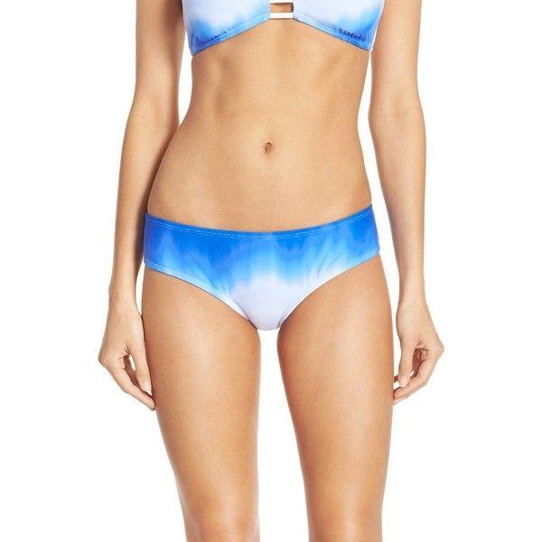 Women's The Bikini Lab Dip-Dye Bikini Bottoms ($34) ❤ liked on Polyvore featuring swimwear, bikinis, bikini bottoms, blue, ruched swimwear, bikini bottom swimwear, scrunch bottom bikini, ruched bikini bottoms swimwear and low rise bikini