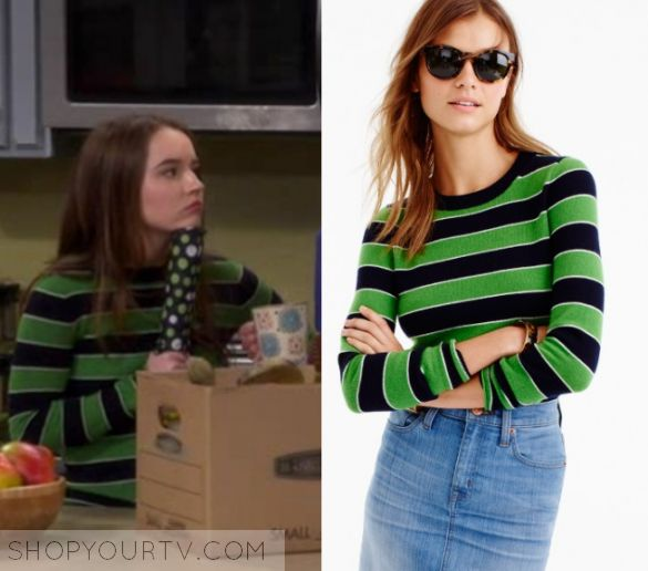 """Last Man Standing: Season 6 Episode 17 Eve's Black Green Sweater 