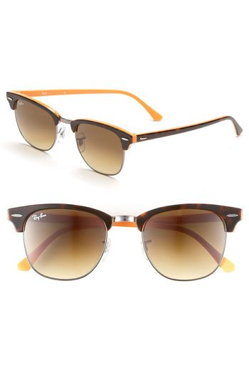Love these too... I just really like the CLUBMASTERS in general! Ray-Ban 'Clubmaster' 51mm Sunglasses available at #Nordstrom