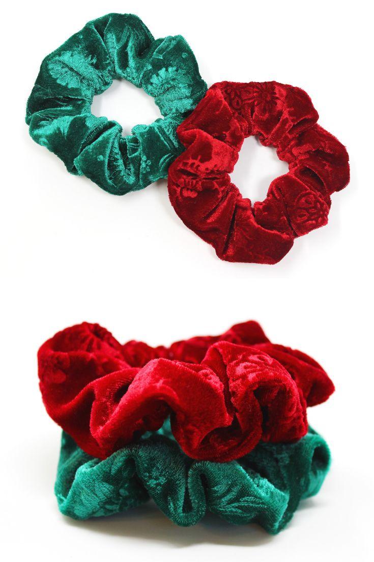 270525562d8 Christmas Velvet Hair Scrunchies