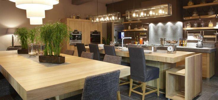 Cuisine tradition contemporaine bois massif zen - Cuisine contemporaine en bois massif ...