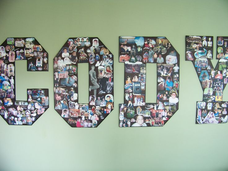 Graduation Photo Display...gotta remember this 10 years from now!