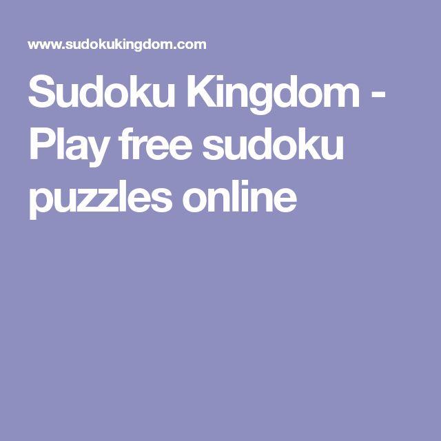 Sudoku Kingdom - Play free sudoku puzzles online