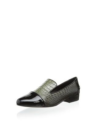 73% OFF Elie Tahari Women's Bianca Slip-On Loafer (Black/Olive)
