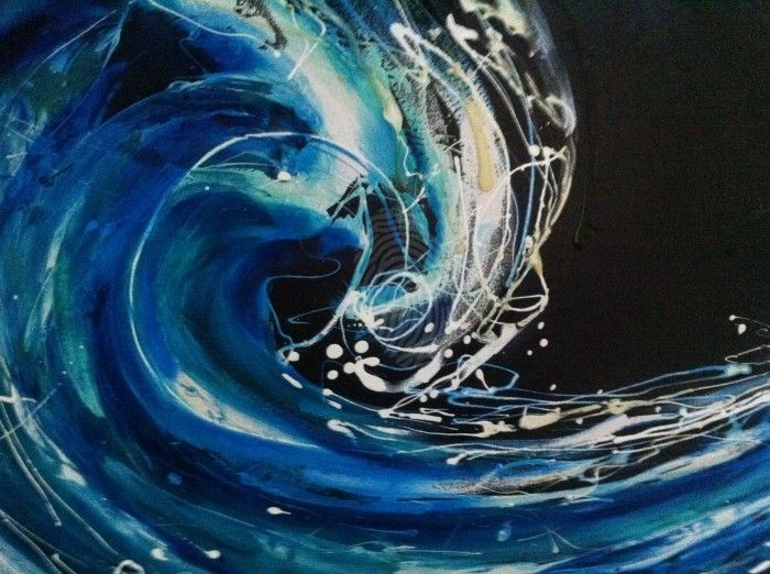 Night wave by Frank Martin. Paintings for Sale. Bluethumb - Online Art Gallery