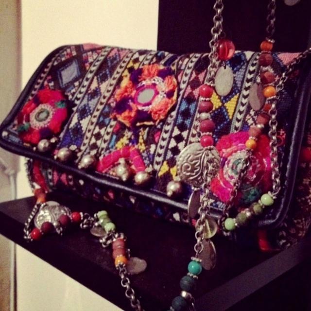 O'Frida! Accessories. #bags #fashion #ethnic #boho #color #riot #anthropologie #etsy #craftori #vintage #banjara #bohemian #Kutch #India