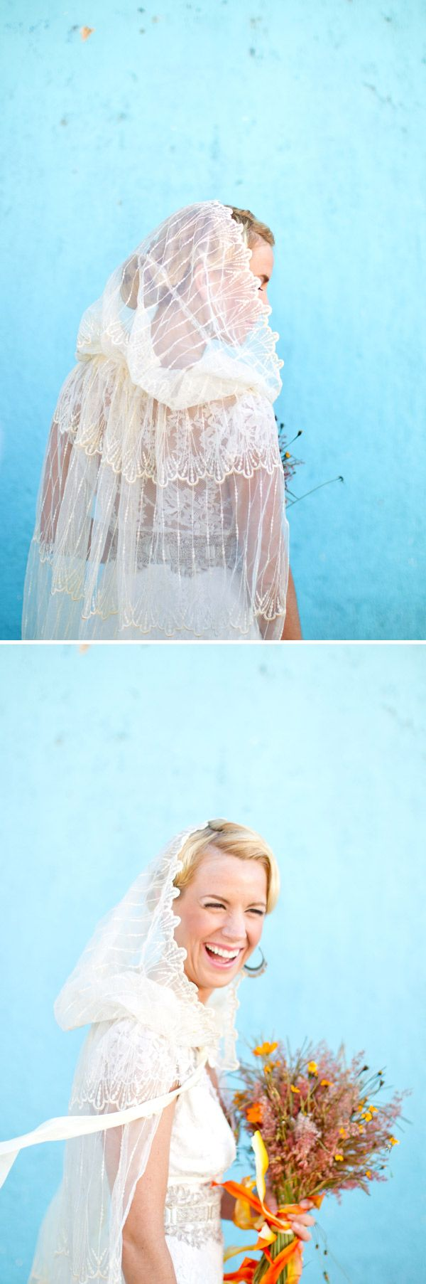 I love wedding veil capes