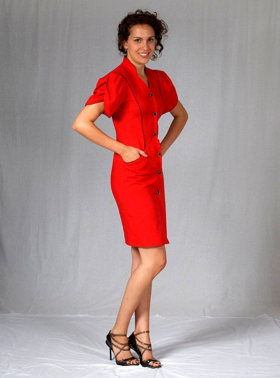 Seriously sassy 1940's style dress from the1980's by kisavintage
