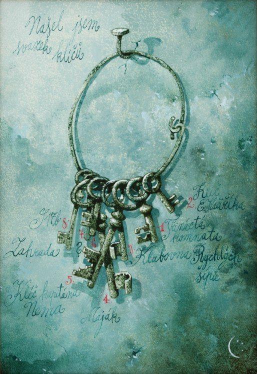 Našel jsem svazek klíčů… Ilustrace a obrazy Pavla Čecha