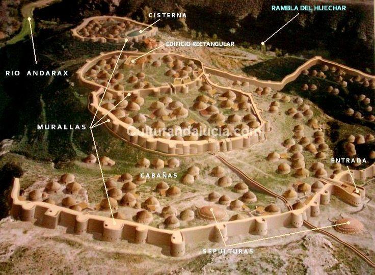Spain / IBERIA. (Pre-Roman Spain) - Los Millares - El yacimiento arqueológico de Los Millares es un asentamiento prehistórico de la Edad del Bronce (3.200-2.200 a. C), formado por el poblado y su necrópolis con una extensión de 6 y 13 hectáreas respectivamente. Situado en el municipio de Santa Fe de Mondújar (Almería).