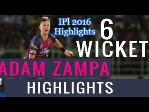 Adam Zampa Take 6 Wickets Highlights Against Hyderabad | RPS Vs SRH IPL ...