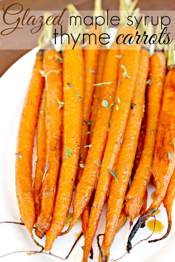 Glazed roasted carrots with maple syrup and thyme - Zanahorias glaseadas en horno con sirope de arce y tomillo