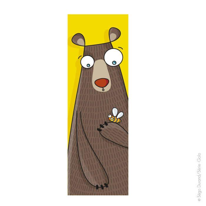 Tableau ours pour chambre bébé. Création originale par Serie-Golo.