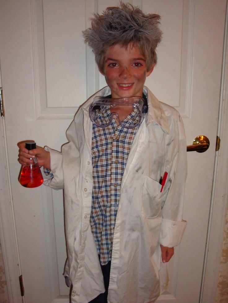 Mad scientist einstein chemistry biology science halloween for Cute boy girl halloween costume ideas