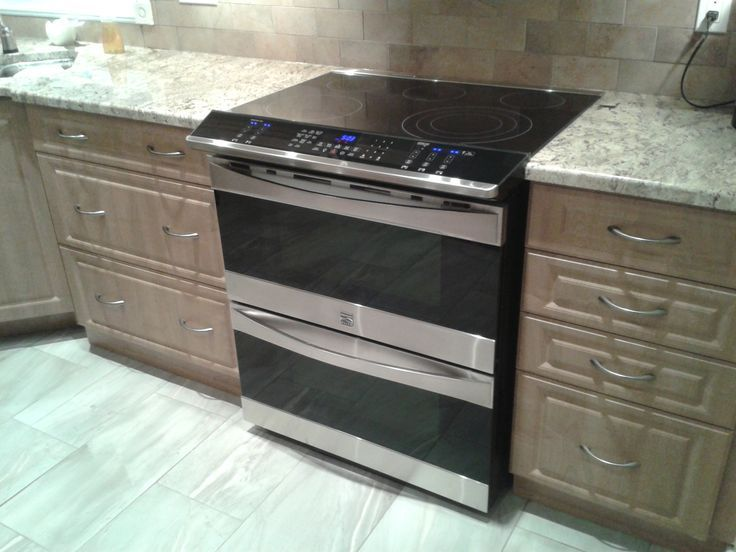 Double Oven Flat Top Slide In Range Stove With I Want Kitchen