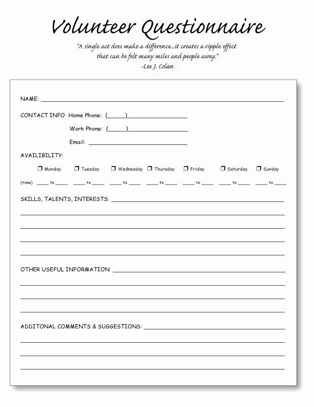 Volunteer Application form Template Beautiful Home School ...