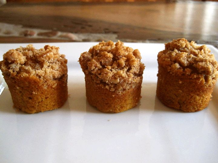 Pumpkin Crumble Muffins... made these this morning. Fabulous.