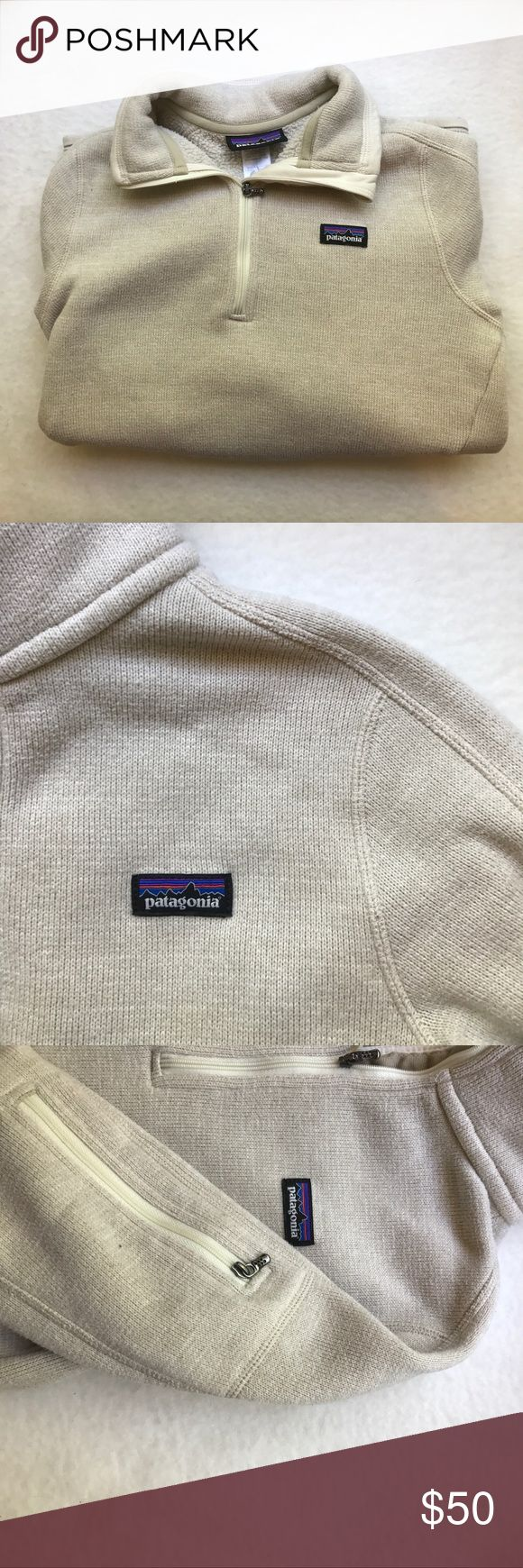 Patagonia Quarter Zip Good condition besides the stains on both arms. Super warm and comfortable! Patagonia Sweaters