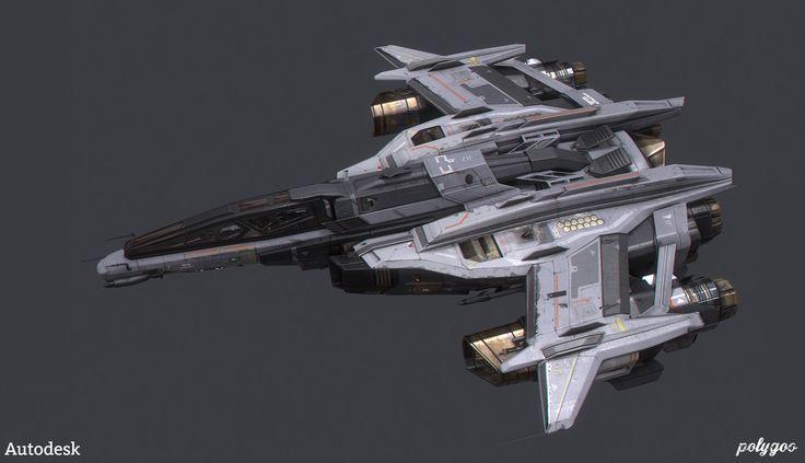 ArtStation - Spaceship, Alan Van Ryzin