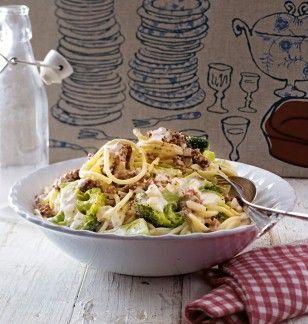 Das Rezept für Spaghetti mit Hack-Käse-Soße und weitere kostenlose Rezepte auf LECKER.de