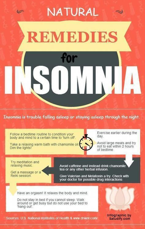 Natural insomnia remedies (Click for MORE remedies