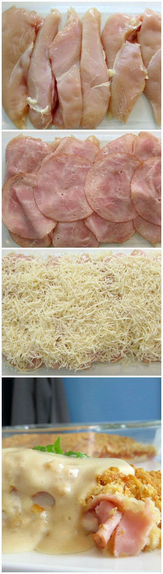 Chicken Cordon Bleu Casserole Recipe: Here's and easy chicken casserole recipe that's creamy and delicious!