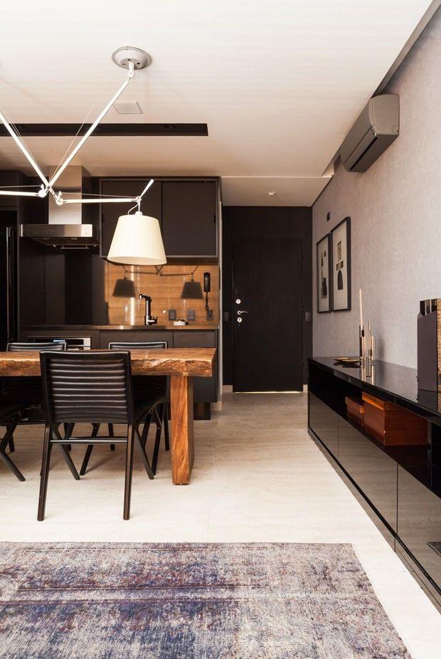 Apartamento integrado dribla pouco espaço
