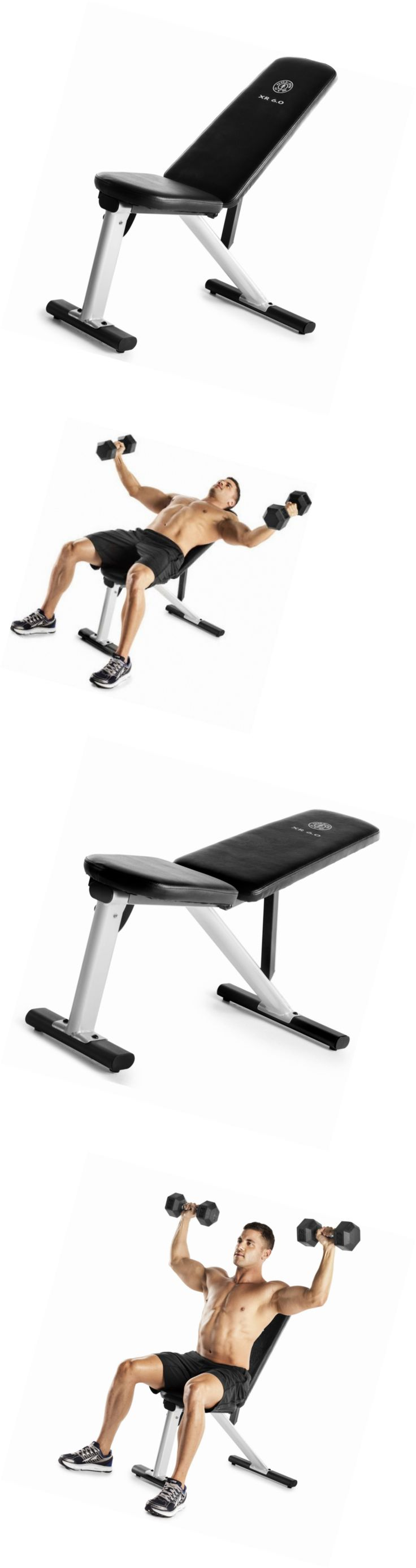 Benches 15281: Gold S Gym Xr 6.0 Adjustable Weight Bench -> BUY IT NOW ONLY: $81.85 on eBay!