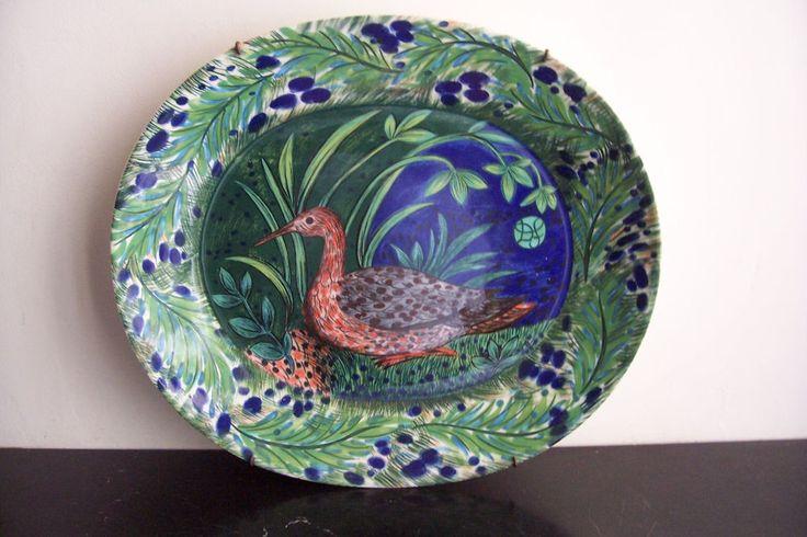Arabia Finland Pro Arte Service Plate design Dorrit von Fieandt Handpainted