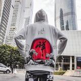 Japanese Street Harajuku Hoodies Dhyana Kanji Oversize Swag Tyga Hoodie Autumn Hoodies US Size S-XL
