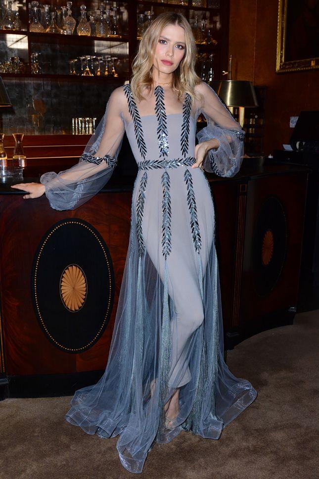Елена Перминова в Yanina Couture на литературном вечере Club Eclectique в Лондоне