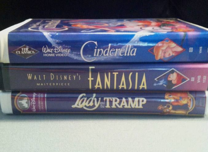 Back in our day Disney videos Cinderella Fantasia Lady and the tramp