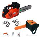 "26cc 10"" TIMBERPRO Petrol Top Handle Chainsaw. Topping Chain Saw with2Chains. 5"