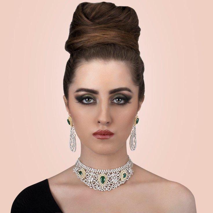 #diamond #jewellary #shoot #neelkanth #jeweller #makeup @kulsumparvez #model @kolahanyasmin #agency @greyapple_advertising