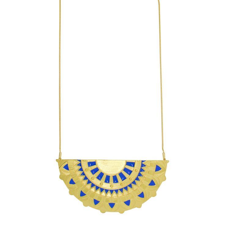 Enamel Lotus Necklace by Amanda Marcucci