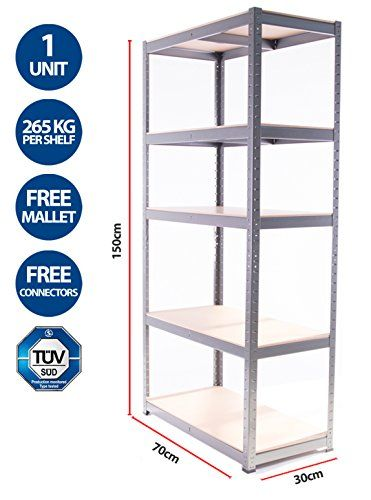 Storage Affairs 5 Tier EXTRA Heavy-Duty Boltless Shelving Unit - 150 High, 70 Wide, 30 Deep (cm) No description (Barcode EAN = 5060468960037). http://www.comparestoreprices.co.uk/december-2016-6/storage-affairs-5-tier-extra-heavy-duty-boltless-shelving-unit--150-high-70-wide-30-deep-cm-.asp